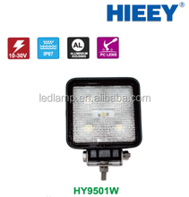 5*3W HIGH POWER WATER LED TASK LIGHT WITH BLACK ALUMINUM ALLOY HOUSING OUTDOOR SQUARE LED WITH 900 LUMENS