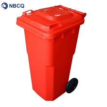 Mobile trash bin waste bin stand