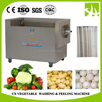 CX industrial vegetables washer potato brush washing and peeling machine