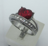 New cz ring fatory direct sale 925 sterling silver jewellery wholesale with roby cz stone