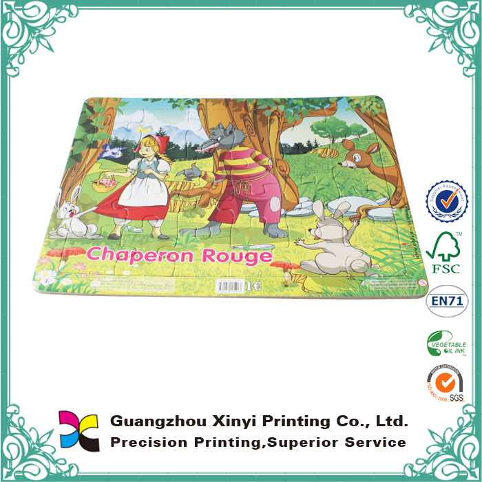 Hot Selling Custom full color Printable Jigsaw Puzzle for children