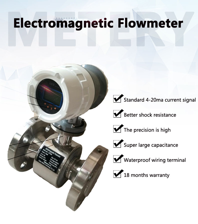 Electromagnetic water flowmeter for effluent measuring