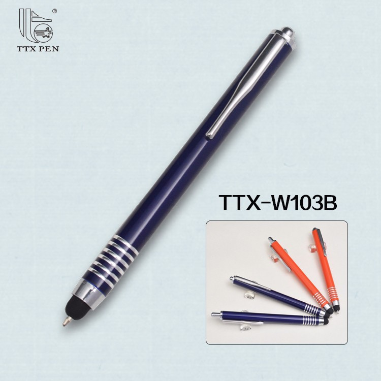 touch ballpen,touch pen metal blue,automatic screen pens