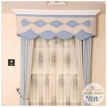 Simple style polyester and cotton solid curtains with tulle sheer for living room window