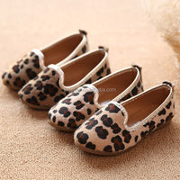 KS30583A 2017 New Arrival Fashion Girl Kids Casual Shoes Children leopard slip-on Shoes