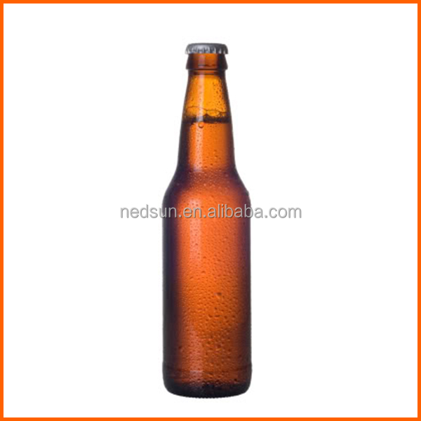 Best quality amber glass beer bottle price competitive