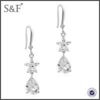 Latest Design Popular Zircon airplane earrings