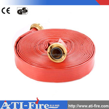 New pvc mixed rubber lined flexible fire hose,fire hose manufacturer,BS fire couplings 100MM