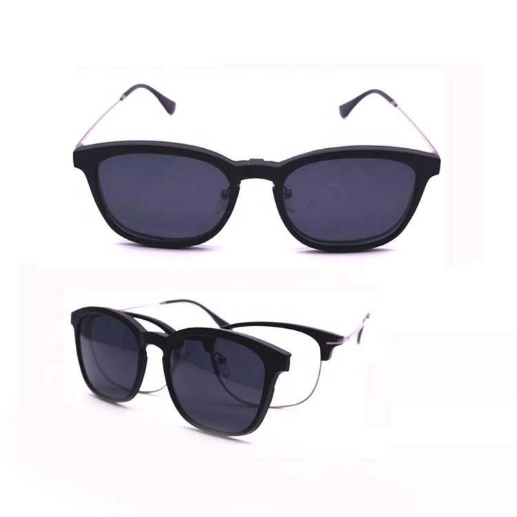 e7d037d7cd 2018 fashion custom logo vintage sun glasses eyeglasses clip polarized optical  frames magnetic clip-on glasses frame
