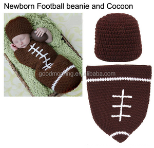 Newborn Football Beanie and Cocoon