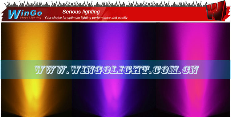 RGBAW+UV slim par nightclub lighting