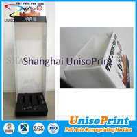 black white plastic silk screen printing PP corrugated bin stand case