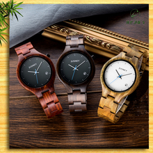 hot sale bamboo couple watch, custom logo on wooden wrist watch men with japan movt quartz watch stainless steel back