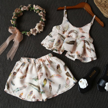 YD4135 korean kid clothing flower two pieces breathable wholesale baby clothes