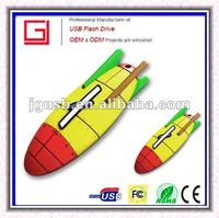 Cheapest!!! New OEM Promotional silicone rockets usb flash drive