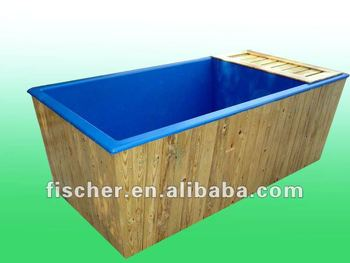 Fiber glass koi tank in blue color supply customize for Koi tank size