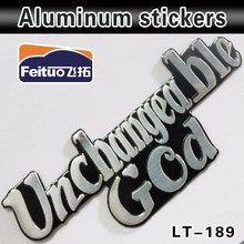Car Clothes Customized Popular Auto Plastic Aluminum emblem sticker