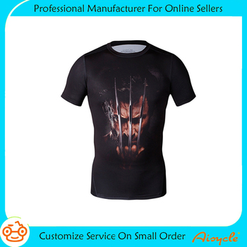 2017Cheap new style wholesale promotional printed t-shirt for men