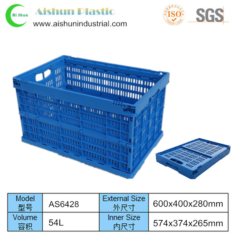 600x400x280mm Vegetables folding collapsible plastic crate