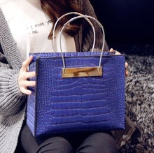 Fashion style lady crocodile skin handbag/big tote bag