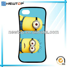 Wholesale cartoon hybrid minions case for iPhone 5s made in china