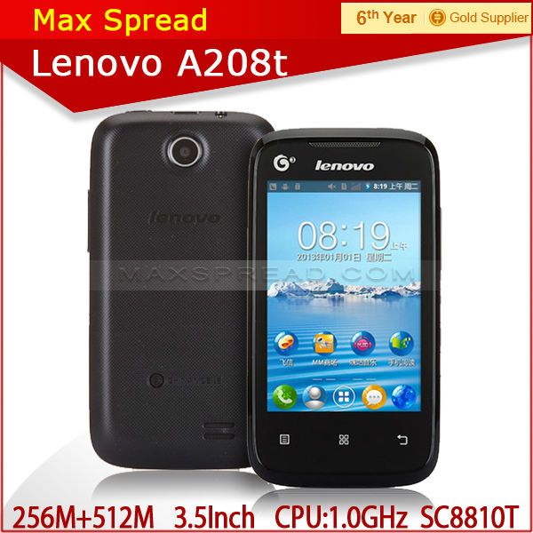 Lenovo A208T 100% New Original GSM+TD-SCDMA 3G 3.5 inch Android 2.3 cheap lenovo a208t smartphone