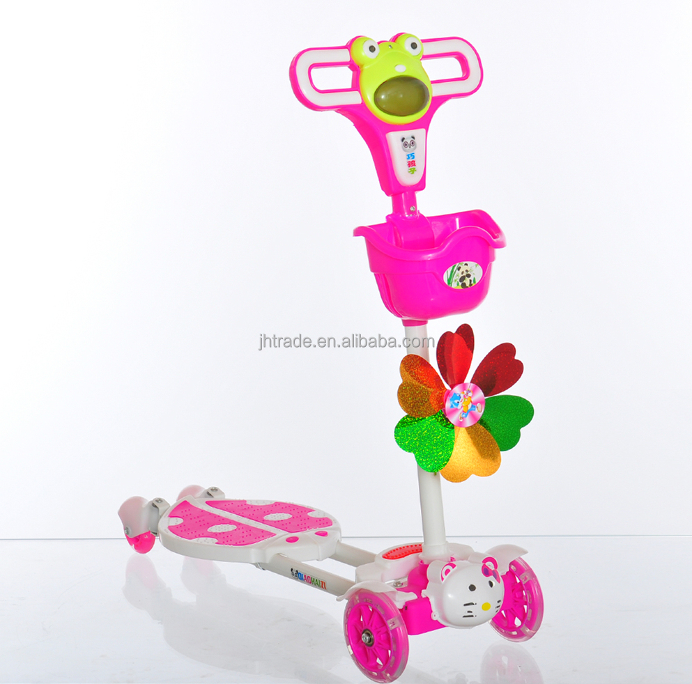 Low price kids 4 wheel scooter/baby swing scooter for training