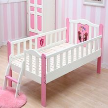 High quality cheaper pink and blue wooden cartoon kids bed
