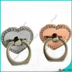Silver,Rose Gold Heart Shape Phone Ring Holder For Girls Phone Decoration
