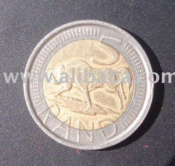 SOUTH African R5. 00 2 TONE COIN DATED 2005