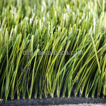 synthetic turf for football pitch, stem grass with black yarns