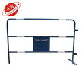 Heavy duty crowd control metal road safety barrier