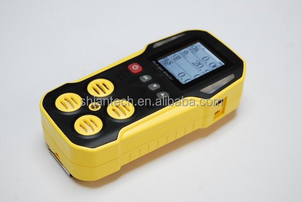 Water-proof Portable Gas Analyzer, CH4 CO, O2, H2S Multi 4 Gas Detector with IP66/67