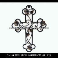 wrought iron decorative catholic cross