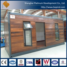 beautiful ready made container house with wood facing