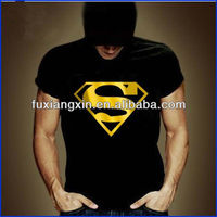 custom logo fitted soft promotional superman tshirts