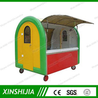 Fast food and beverage mobile outdoor food kiosk