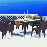 Outdoor Garden Poly Rattan 6 Person