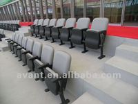 single sofa VIP public tip-up folding chair,grandstand for theater,arena,gym,hall,auditorium,church use
