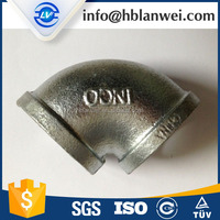 BS threads banded galvanized malleable iron pipe fittings