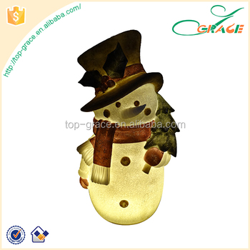 Christmas party snowman shaped resin led christmas solar light
