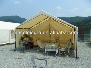 100% canvas outdoor entertainment glamping tent / safari tent