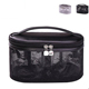 High Quality Fashion Zipper Luxury Cosmetic Bag organizer with double zipper closure