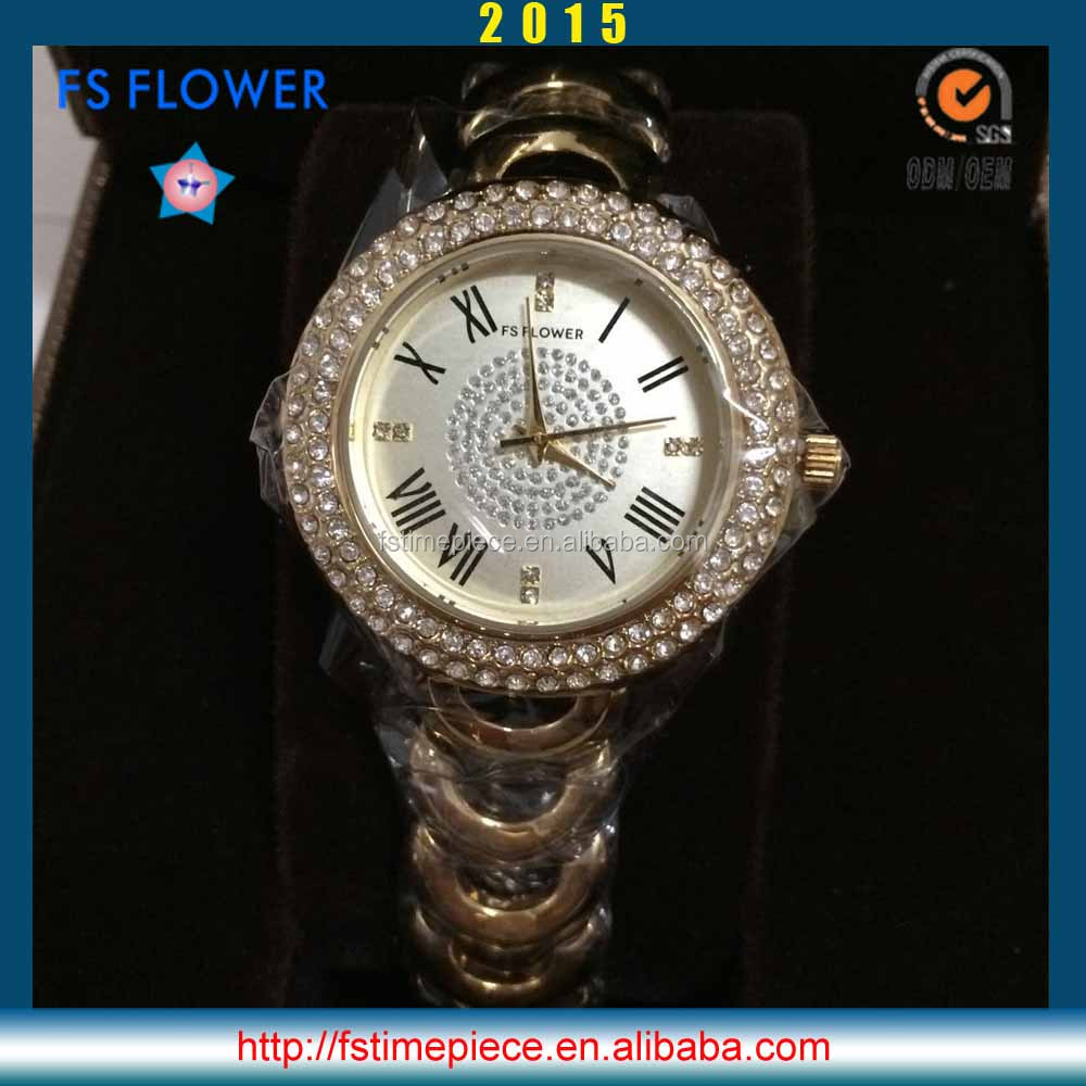 FS FLOWER - United Arab Emirates Watch All Gold Good Stone Quartz Watch Japan Quartz Watch