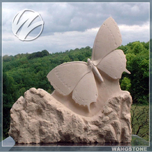Stone Animal Butterfly Statue for Garden Decor