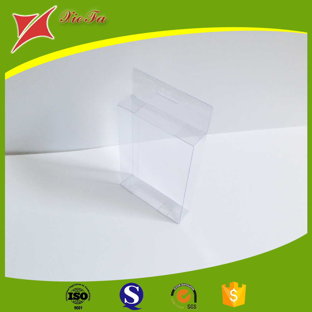 Electronic Industrial Use Clear Blister Doll Plastic Folding Box with hanger