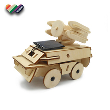 Kids Solar Energy Wooden Science Kit Toy With Truck