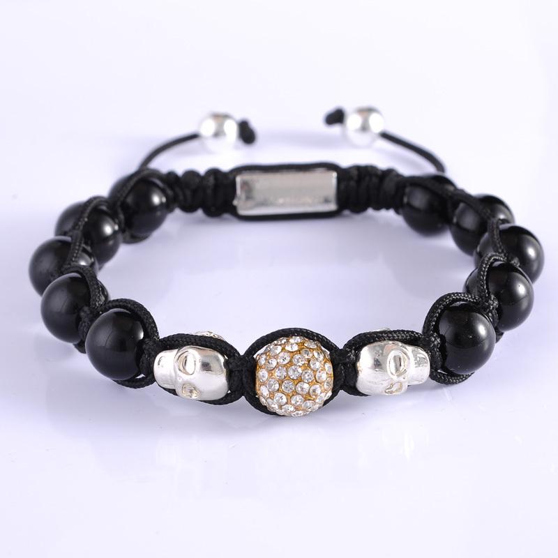 Get Quotations Handmade Skull Mens Bracelets Diy Rope Alloy Bangles Fashion For Best Friend Gift Charmskull
