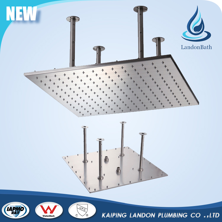 Large Square ceiling stainless steel rainfall shower head