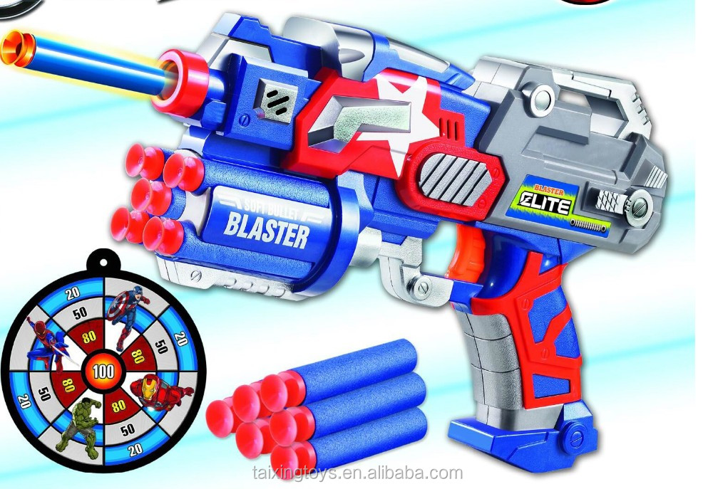 Die cast Deforming Electronic Toy Gun With 14PCS Soft Bullet